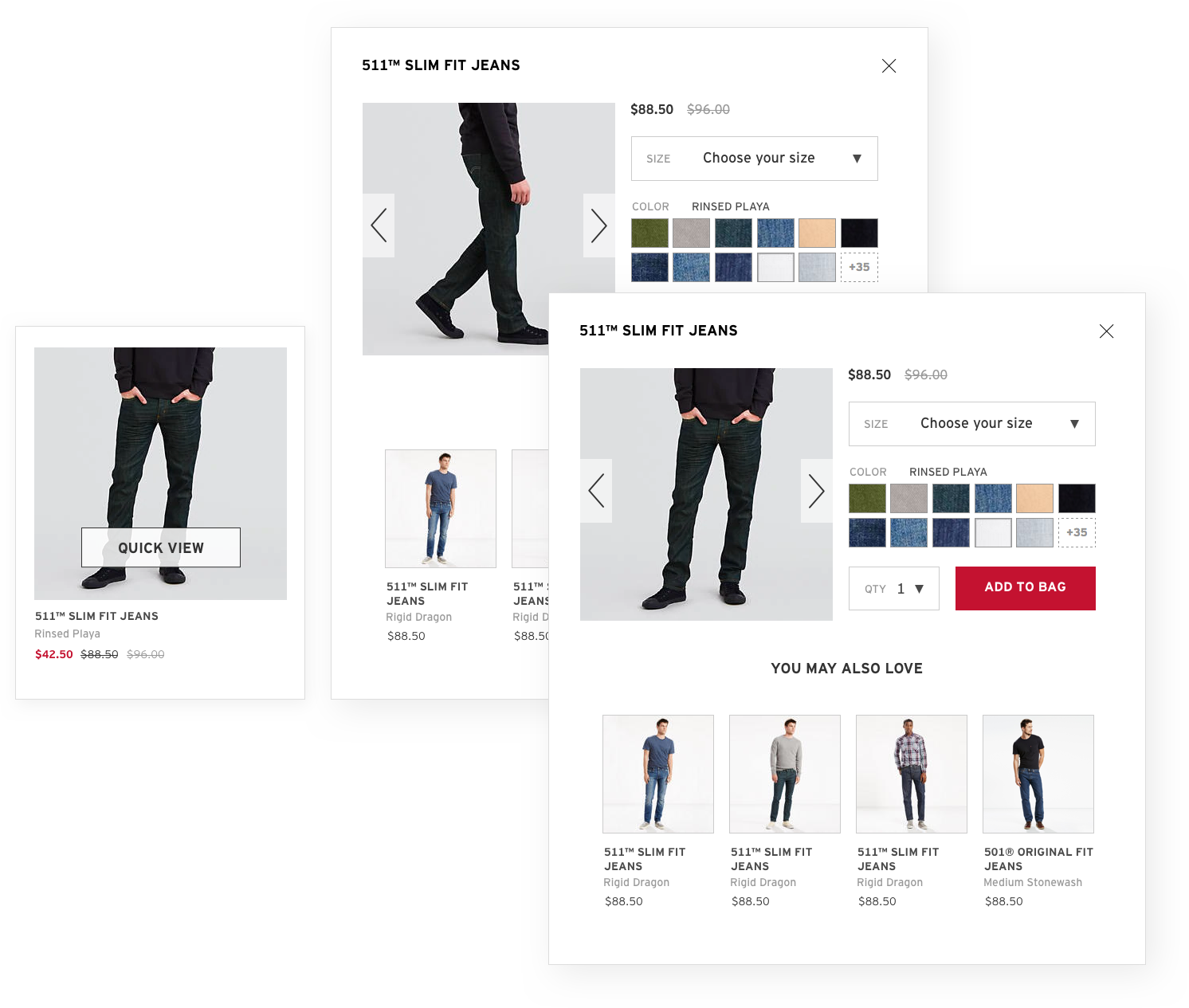 levi's quick view ux yachin you