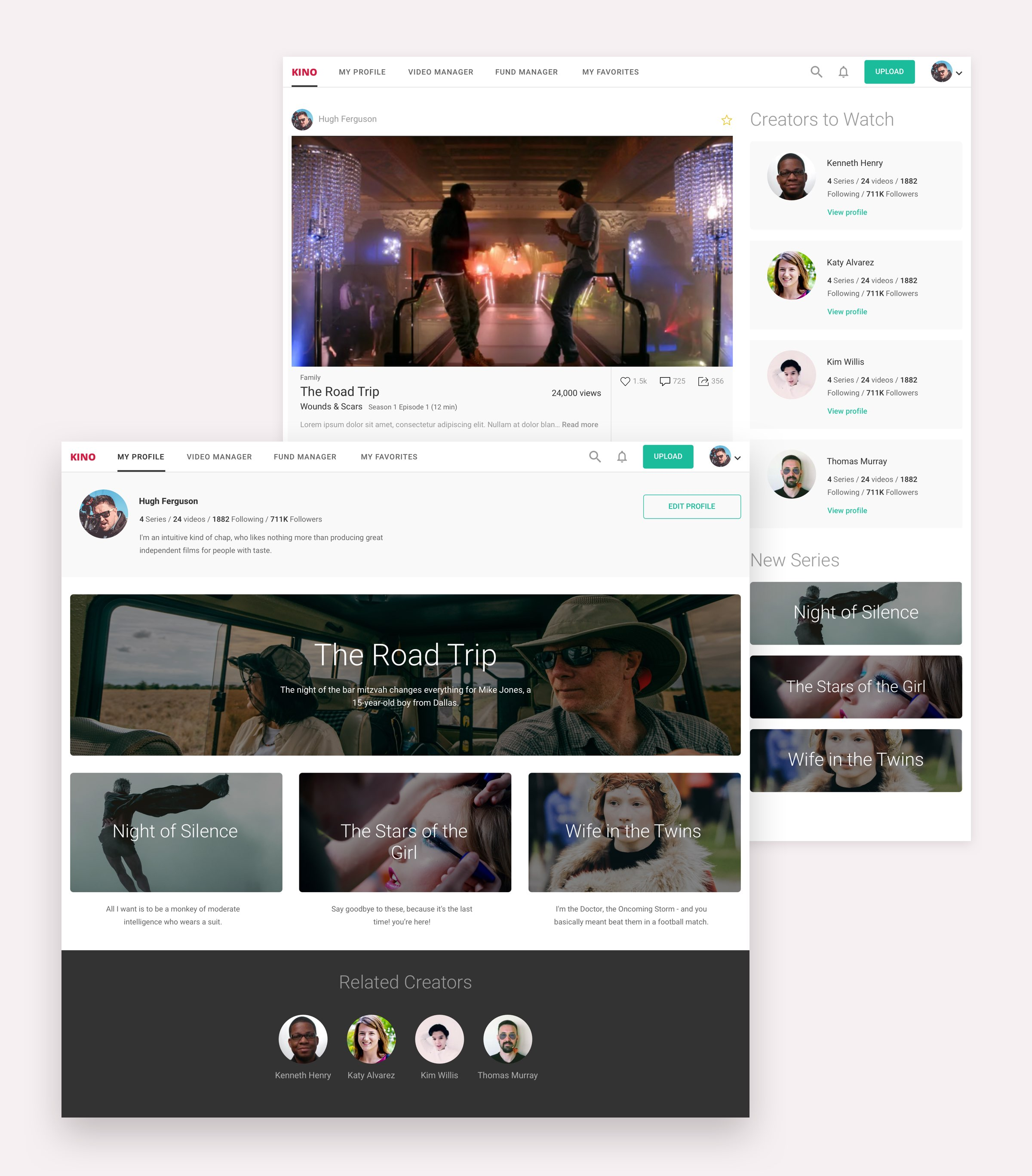 kino profile and feed ux yachin you