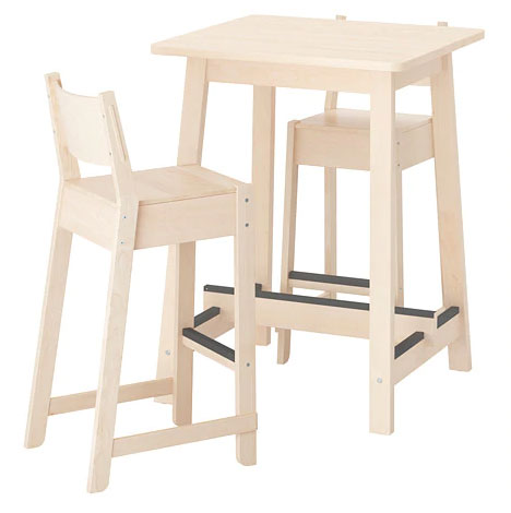 ikea bar table and stools